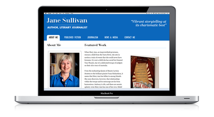 Website of Jane Sullivan, an Australian author