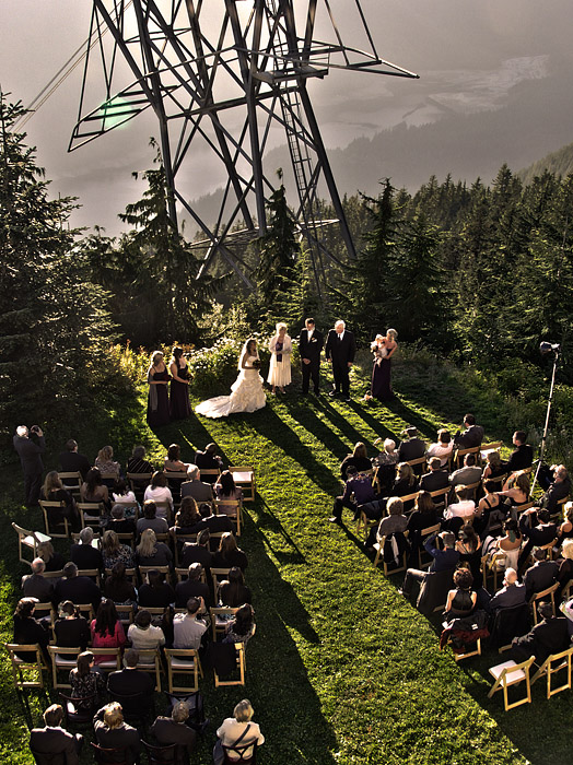 Wedding ceremony at Grouse mountain