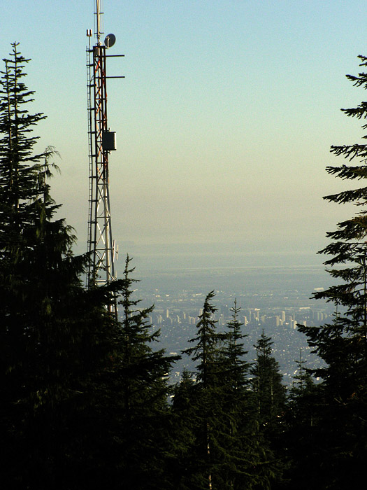 Radio tower on top of Grouse Mountain