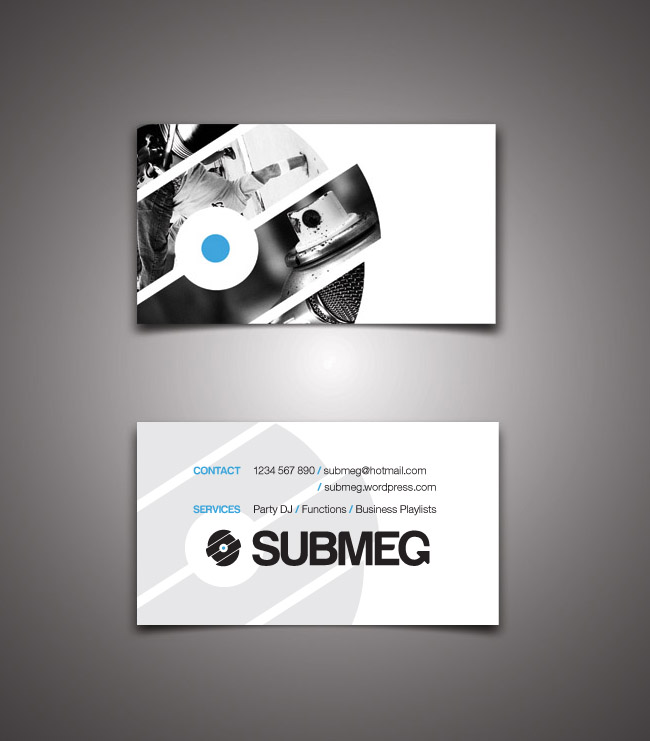 Logo business card for dj submeg ankhou graphic design dj submeg business card reheart Choice Image
