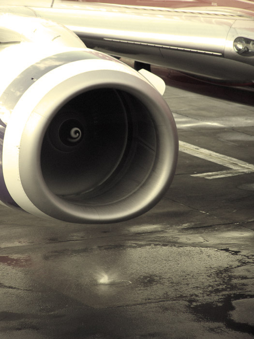 Jet engine waterspout at Sydney airport
