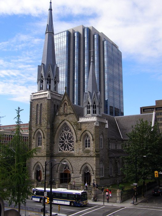 The Holy Rosary Cathedral in Cathedral Place in Vancouver, BC