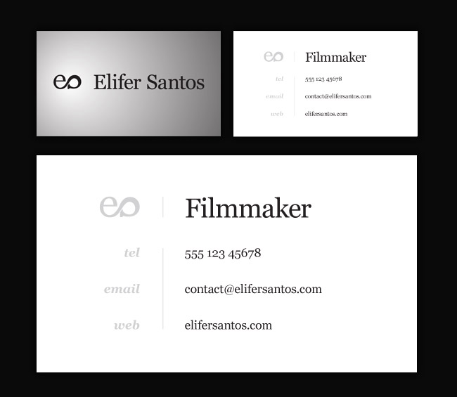Elifer Santos business card