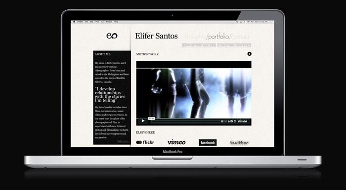 Elifer Santos website preview