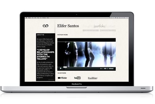 Elifer Santos website preview