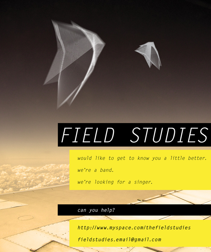 Post for Adelaide-based band Field Studies
