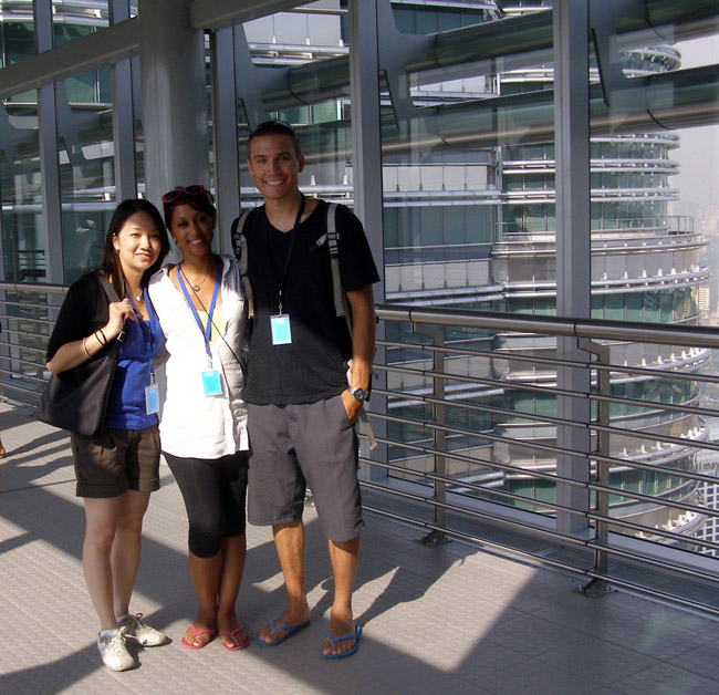 On the Petronas Towers Skybridge