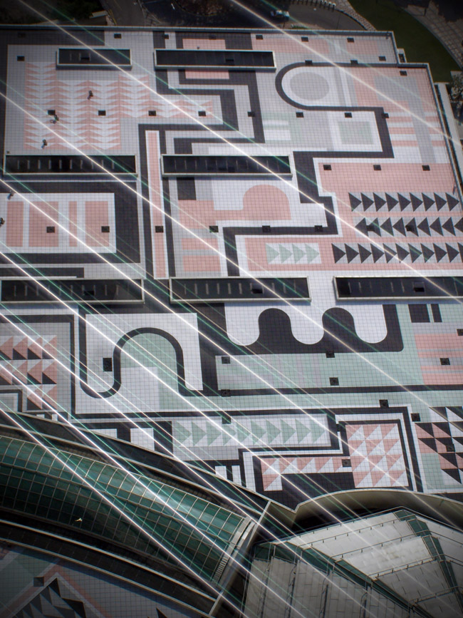 Impressive mosaic seen from the Petronas Towers Skybridge