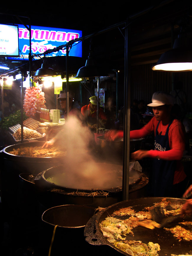 Night market cooking