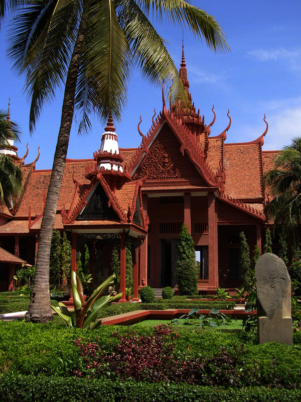 Cambodian National Museum's courtyard