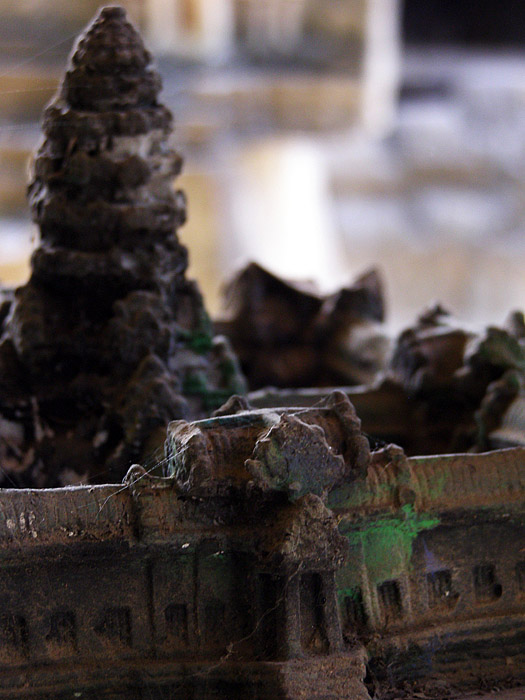 Close-up of Angkor Wat miniature