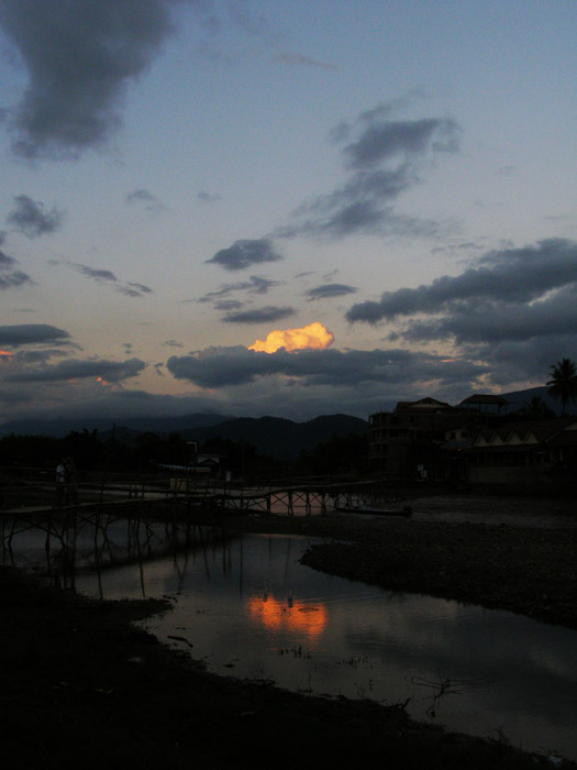 Bright cloud in Vang Vieng