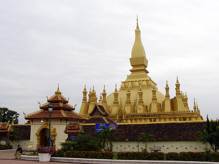 The Golden Stupa, Vientiane, Laos