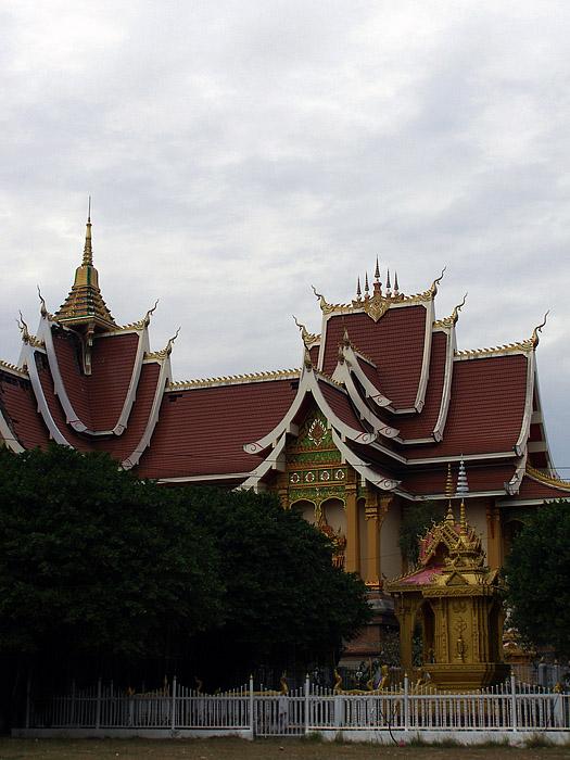 Large temple in Vientiane, Laos