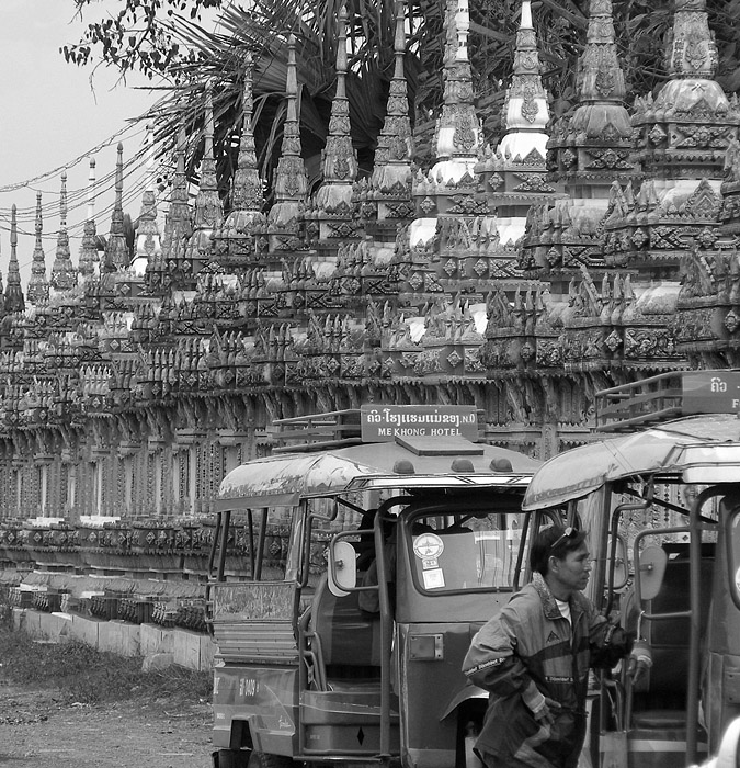 Long line of stupas