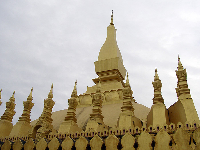 Close-up of the Golden Stupa, Vientiane