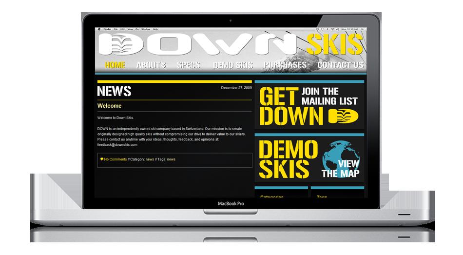 Down Skis: a Switzerland-based freeski company