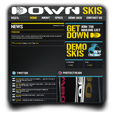 Down Skis website
