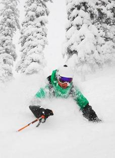 Skiing in Revelstoke, BC - Photo: Kevin Manuel
