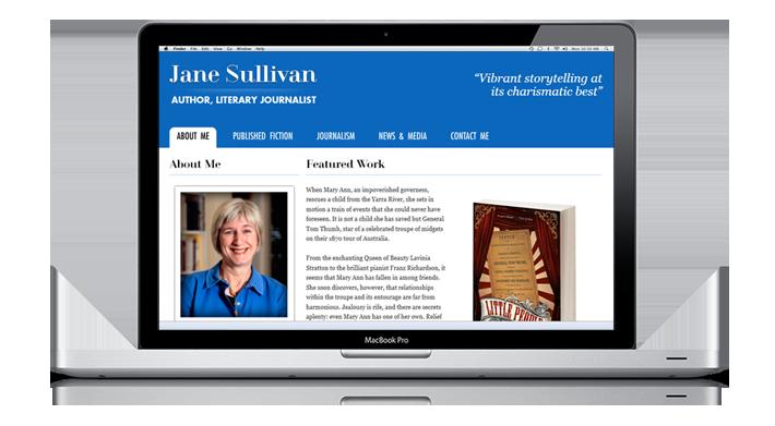 Website of Jane Sullivan, an Australian author