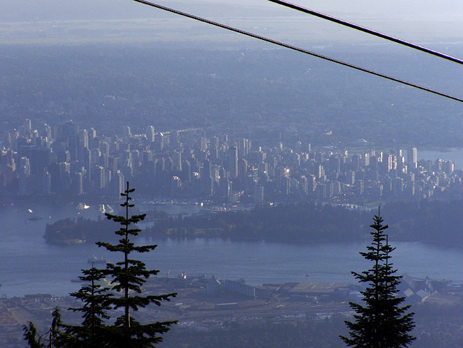 View of Downtown from the top of Grouse