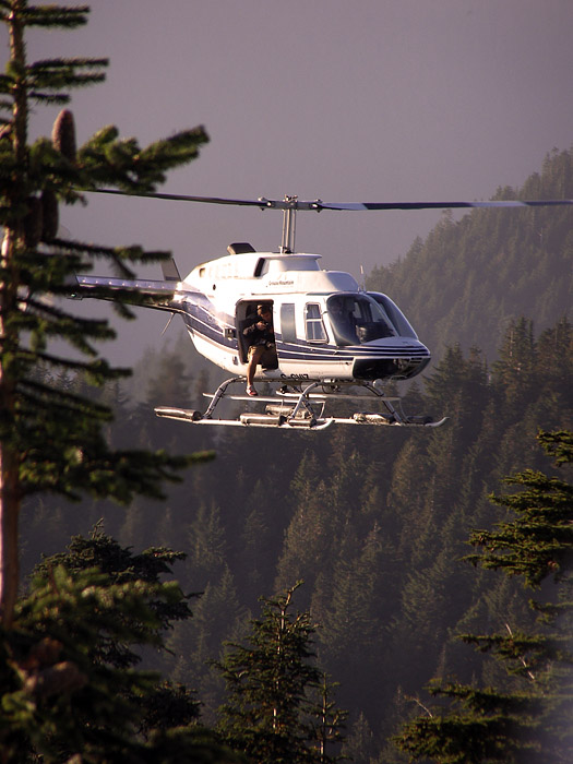 Sightseeing helicopter at Grouse Mountain
