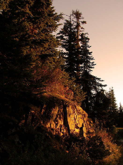 Evening light at Grouse Mountain