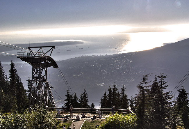 View from the top of Grouse Mountain
