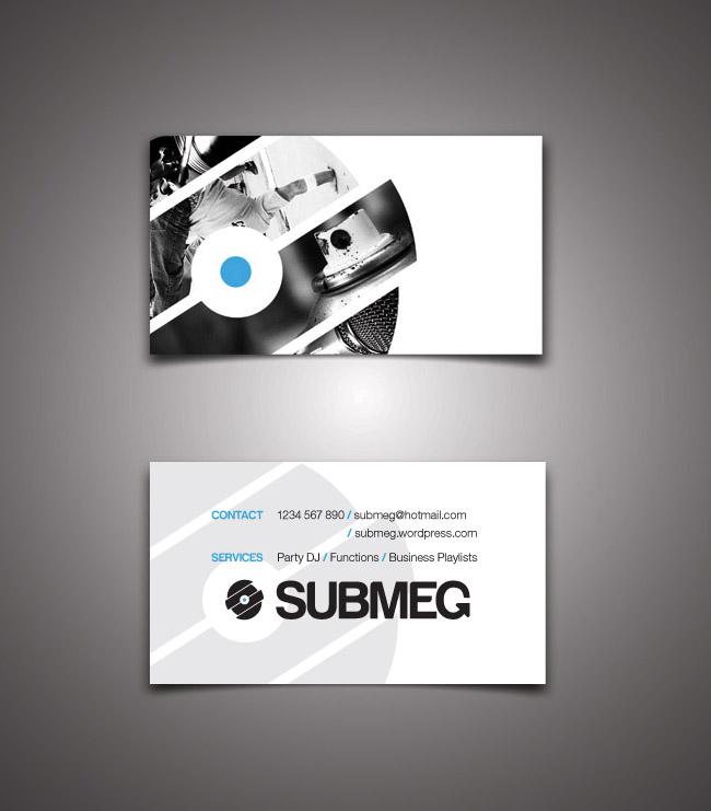 DJ Submeg business card