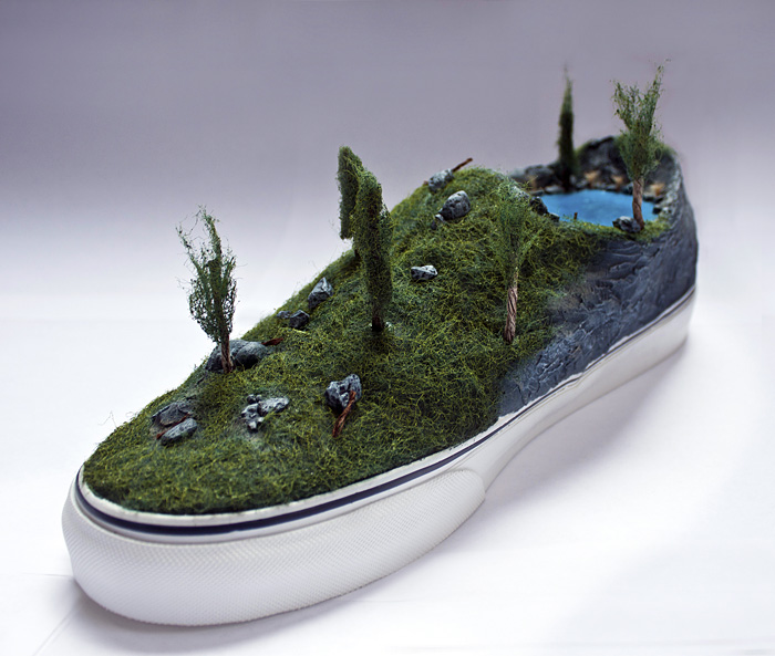 Vans, B.C. shoe for From The Ground Up, an art show in Revelstoke