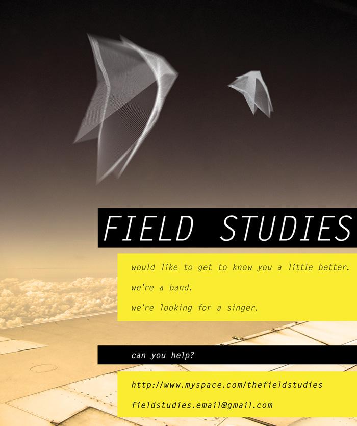 Post for Adelaide-based band Field Studies