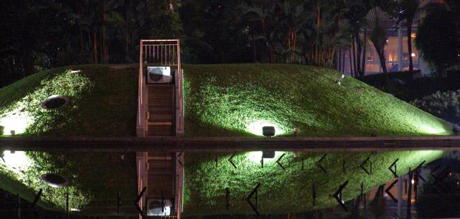 KL public waterpark at night