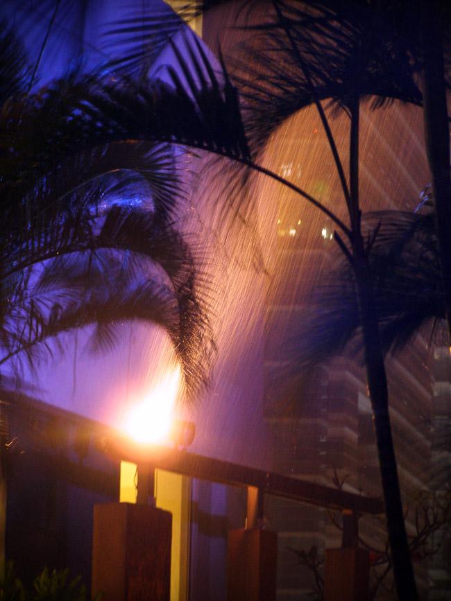 Rain at the KL Hilton