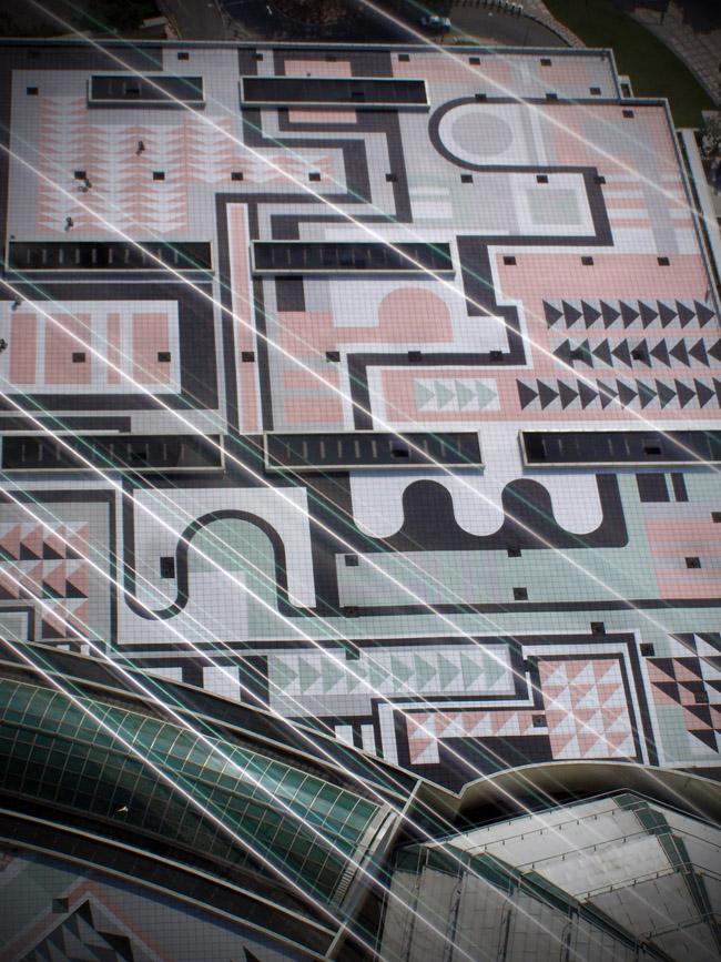 Impressive mosaic seen from the Petronas Towers Skybridge