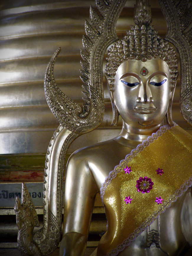 Buddha with a sash