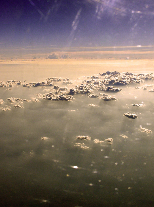 Clouds on the flight into Cambodia