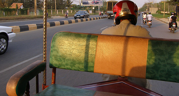 Our first Tuktuk ride in South East Asia!