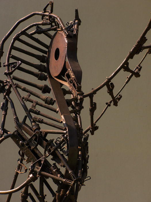 Sculpture made of recycled rifles