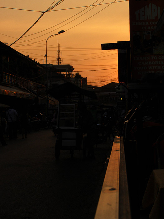 Sunset on Pub Street, Siem Reap