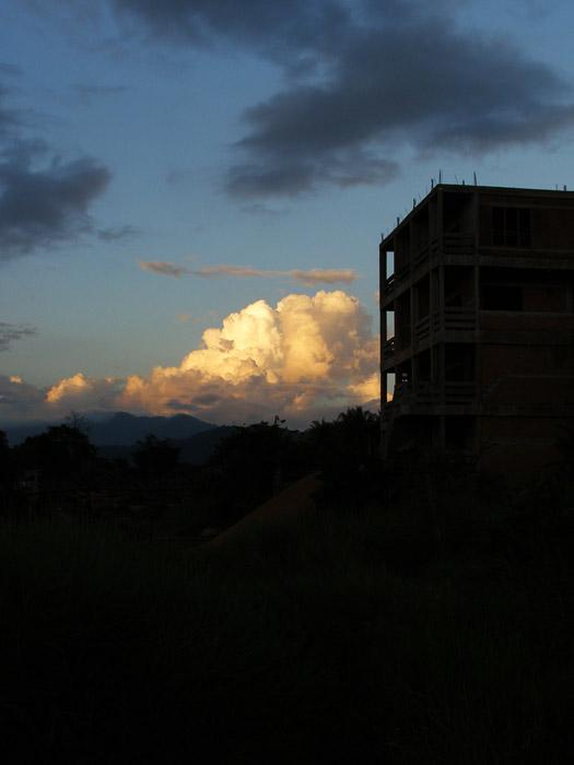 Bright cloud in Vang Vieng