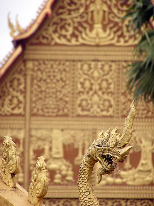 Dragon sculpture near the Golden Stupa