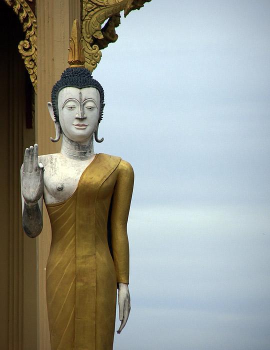 Buddha sculpture near the Golden Stupa in Vientiane