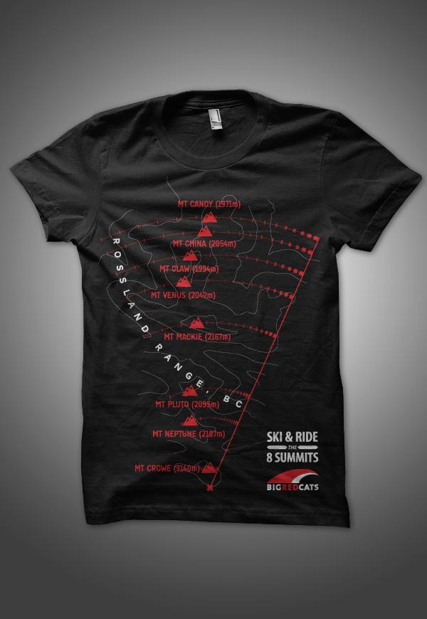 Big Red Cats t-shirt illustration mockup