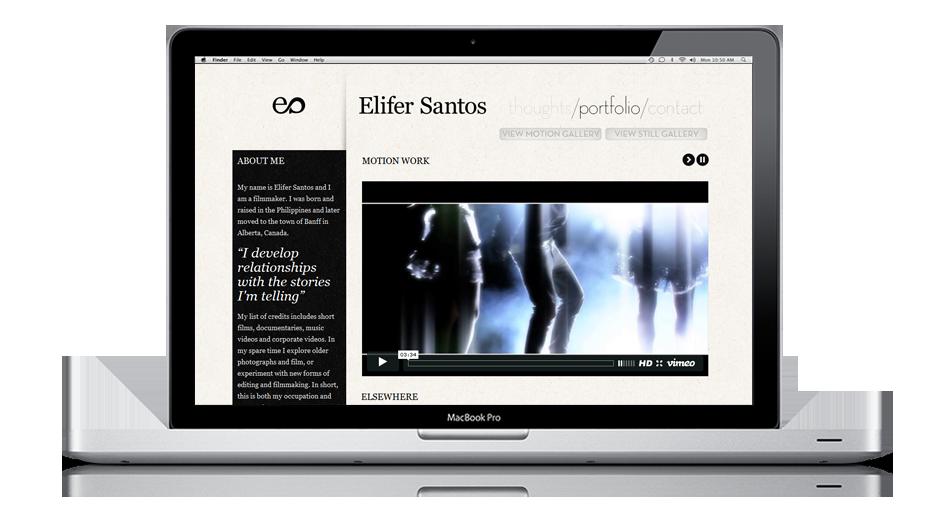Elifer Santos - Vancouver-based Filmmaker