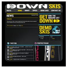 Down Skis website