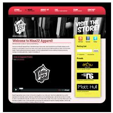 Nine22 Apparel website